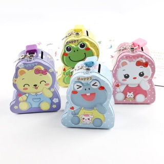 Két sắt mini hoạt hình có khóa cute - hộp sắt đựng tiền tiết kiệm có ổ khoá cho bé no.012 thumbnail