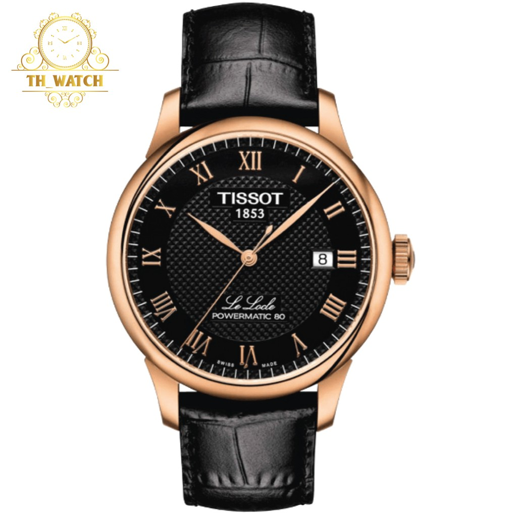 Đồng hồ Tissot Nam 1853 Le Locle automatic, dây da, kính shapphire T006.407.36.053.00