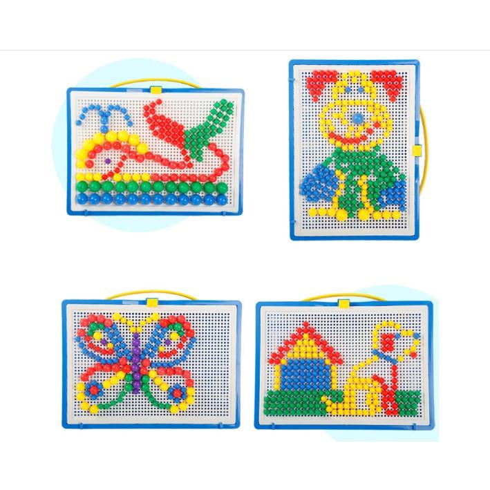 Đồ chơi xếp hình hạt 296 chi tiết hạt nấm cho bé