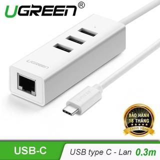 Cáp Chuyển USB Type C to Lan + USB HUB Ugreen 20792 - Hàng Chính Hãng thumbnail