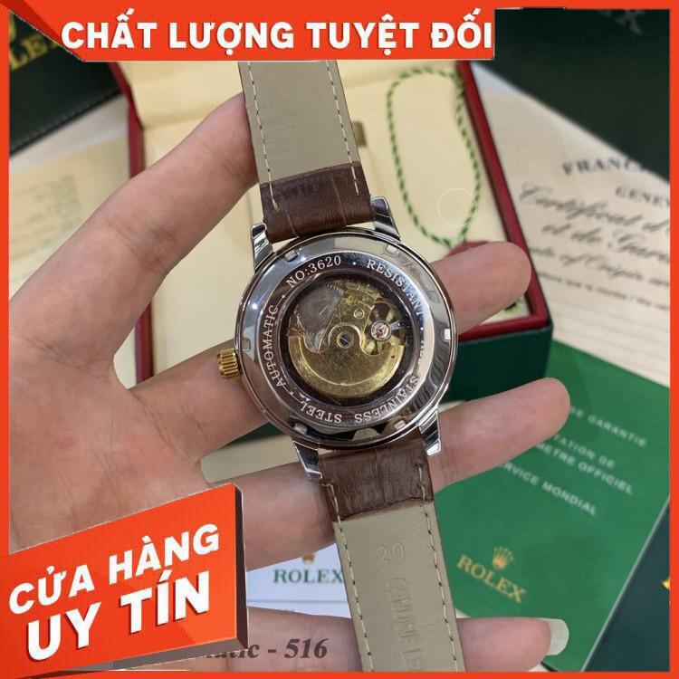 (Rolex.automatic)  [Máy cơ- Bảo hành 12th] Đồng hồ nam Ro.lex -MÁY CƠ 40 mm hàng cao cấp- bảo hành 12th Ro_collections -