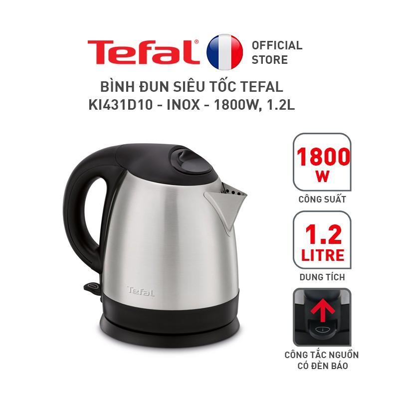 Bình đun siêu tốc Tefal KI431D10 – Inox – 1800W, 1.2L