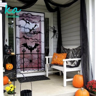 Rèm Cửa Trang Trí Halloween Hình Mạng Nhện