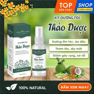 Xịt Dưỡng Tóc Thảo Dược Hương Mộc Nhiên giúp Dưỡng ẩm cho da đầu và tóc. Giảm xơ rối, gãy rụng. Thơm lâu, dịu mát. 50 ml