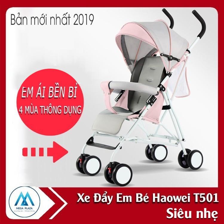 Xe nôi xe đẩy em bé Haowei T501 bản cao cấp có thể gấp xách tay cho bé 6 tháng - 3 tuổi -AL