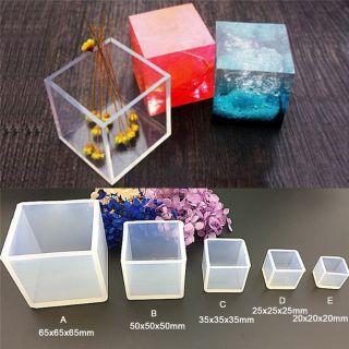 Khuôn Silicon hình khối vuông (Size: 20/25/35/40/50/65mm)
