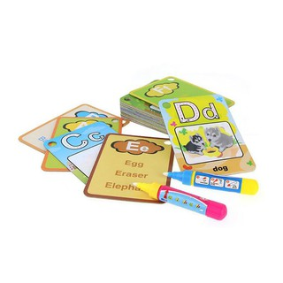 WX_26 Letters Flash Card Water Painting Graffit Board Kids Early Education Toys
