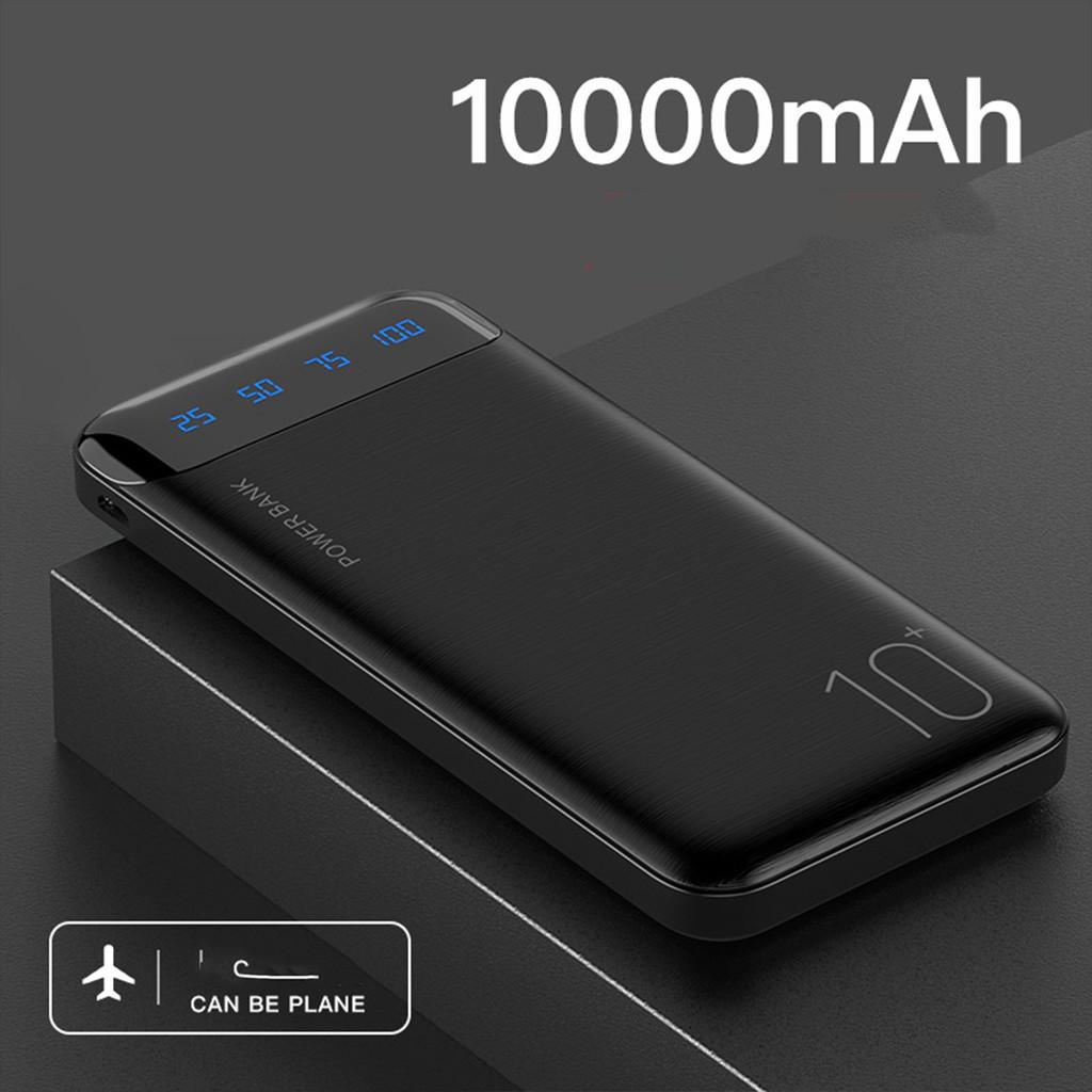 Sạc dự phòng 10000mAh tích hợp đèn Led hiển thị pin, 2 cổng sạc USB, Bảo hành Chính hãng Remax Wk161