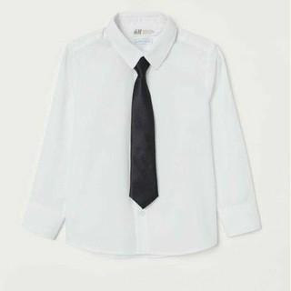 Áo sơmi trắng cà vạt H&M chuẩn auth Uk cho trai lớn