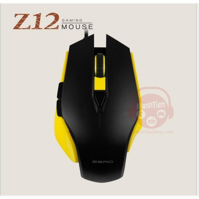Chuột chơi game có dây Zero Z12 (Vàng Đen)