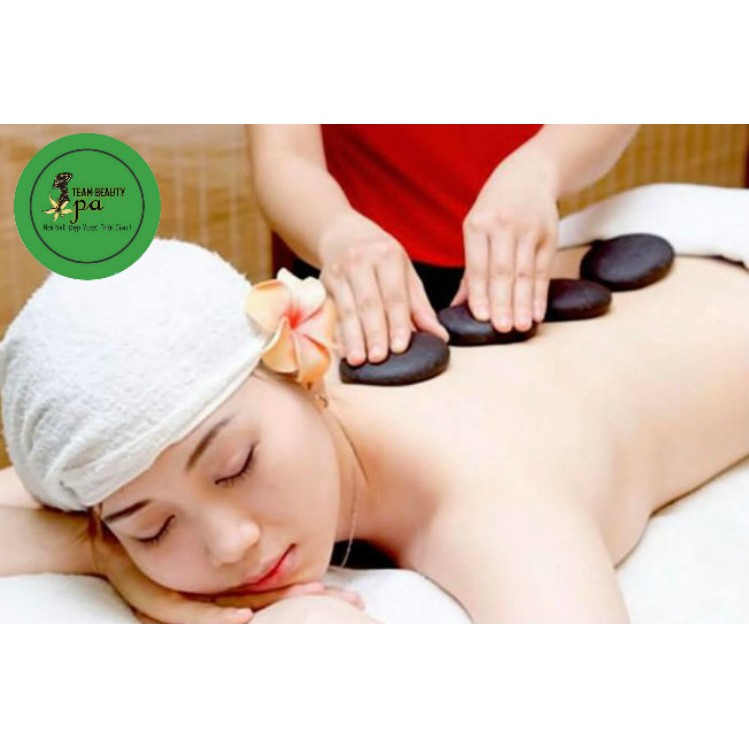 HCM [E-Voucher] - 60 phút Massage Body Á - Âu bằng Tinh Dầu Hữu Cơ + Bấm huyệt + Kết hợp Nằm đá nóng tại Team Beauty Spa