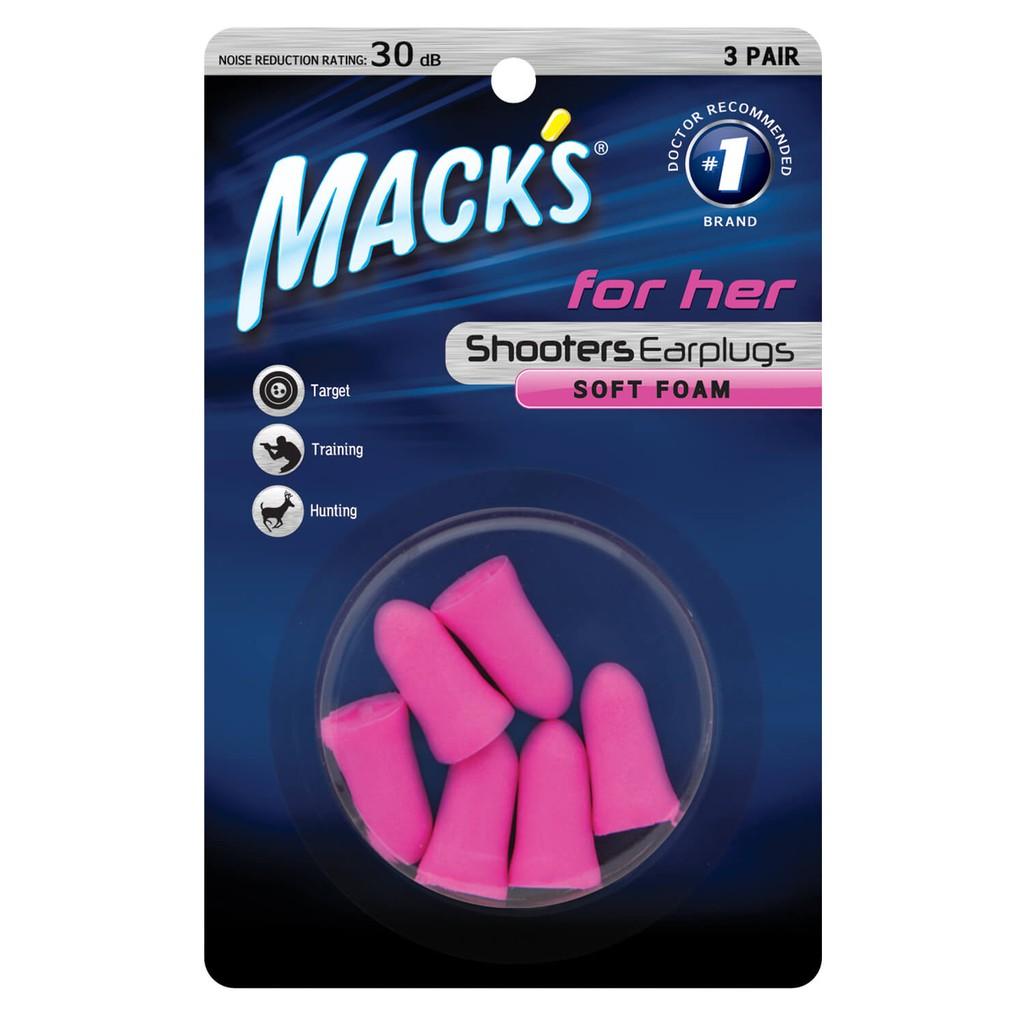 Hộp 3 đôi nút bịt tai chống ồn Macks For Her dành cho Nữ , thương hiệu Mack's nhập khẩu Mỹ