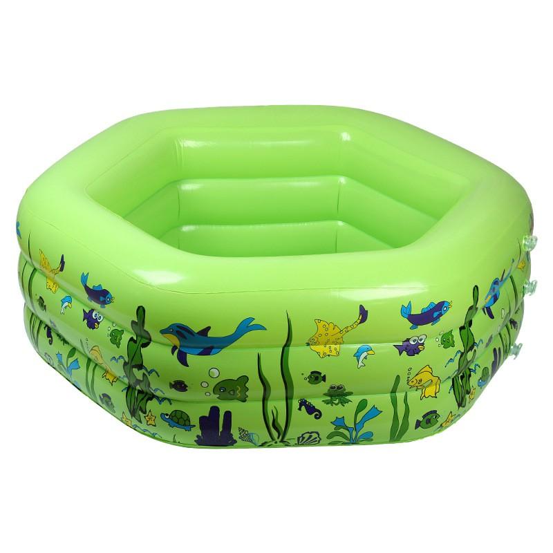 Ins phong cách mới pvc bơm hơi bể bơi trẻ em bể chơi cho bé nhà tắm hình lục giác nhà máy bán buôn