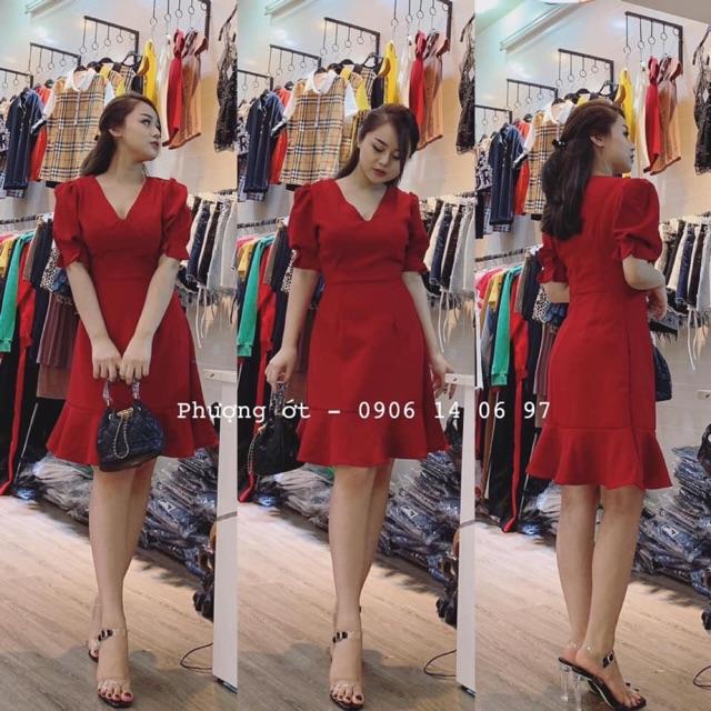 Váy đỏ đuôi cá