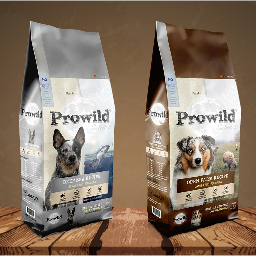 โปรไวลด์ ซีเล็คเต็ด โอเพ่นฟาร์ม แกะและข้าว / โปรไวลด์ ซีเล็คเต็ด ดีพซี ทูน่าและ สำหรับสุนัขทุกช่วงวัย 3 กก.*2 แพ็ค