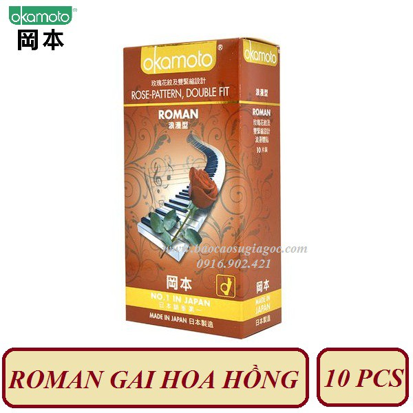 Bao cao su Okamoto Roman siêu mỏng gai hoa hồng 10 pcs - 2946376 , 1266942838 , 322_1266942838 , 185000 , Bao-cao-su-Okamoto-Roman-sieu-mong-gai-hoa-hong-10-pcs-322_1266942838 , shopee.vn , Bao cao su Okamoto Roman siêu mỏng gai hoa hồng 10 pcs