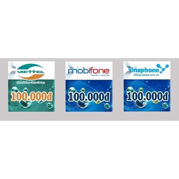 Thẻ cào điện thoại 100.000đ