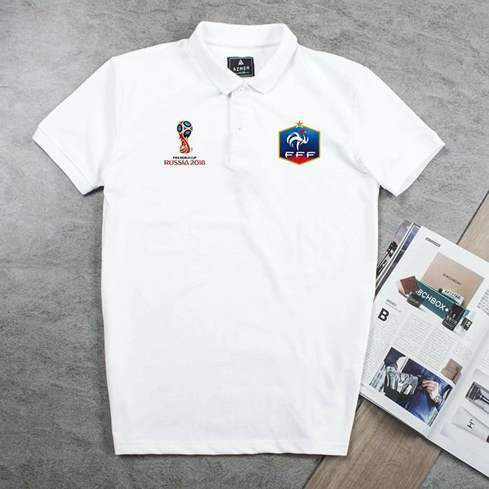 Áo thun Polo đội tuyển Pháp Worldcup chất cotton cao cấp