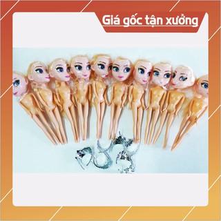 Combo 10 đồ chơi búp bê Elsa 17Cm + Vương miện, trang trí bánh kem (Không kèm quần áo) – TKPK