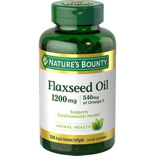 Hộp 125 viên uống đẹp da, hỗ trợ tim mạch Flaxseed Oil Nature's Bounty 1200mg