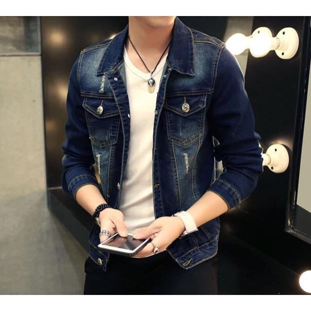Áo Khoác Nam Chất Jean chuẩn đẹp - Áo khoác jeans