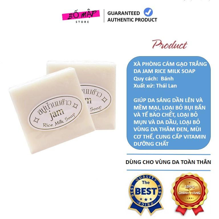 [SALE] [CAM KẾT 100% CHÍNH HÃNG] Xà Phòng Cám Gạo Trắng Da Jam Rice Milk Soap Thái Lan