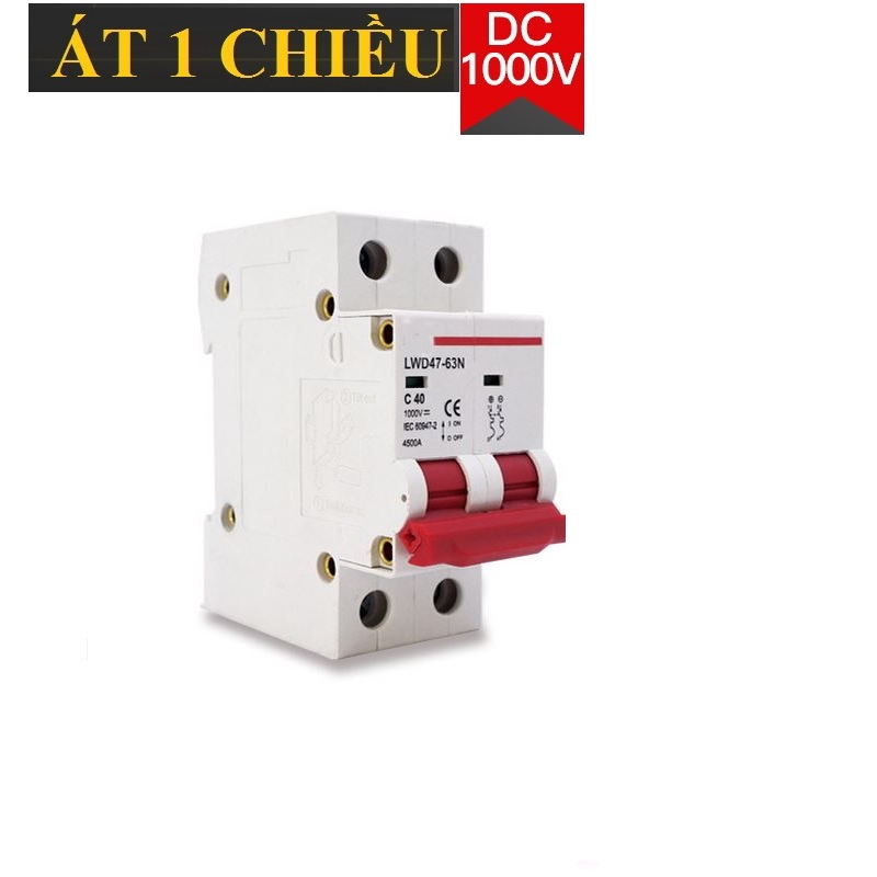 CB 1 chiều DC 1000V chuyên dụng cho hệ thống điện 1 chiều 2P 16A ...