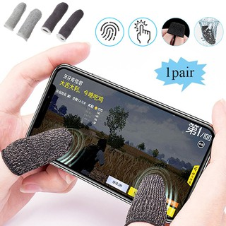 [Ready Stock]A pair of Finger Cots for Stall Sensitive Game Controller Sweatproof Breathable Touch Screen Finger Sleeve