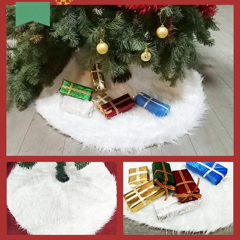 White Plush Skirt Aprons Tree Carpet Christmas Decr Xmas Decor