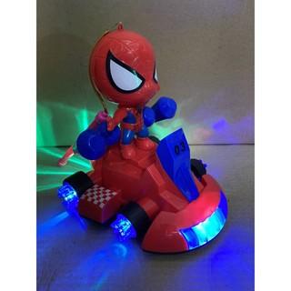 Đèn lồng người nhện đi xe 4 bánh