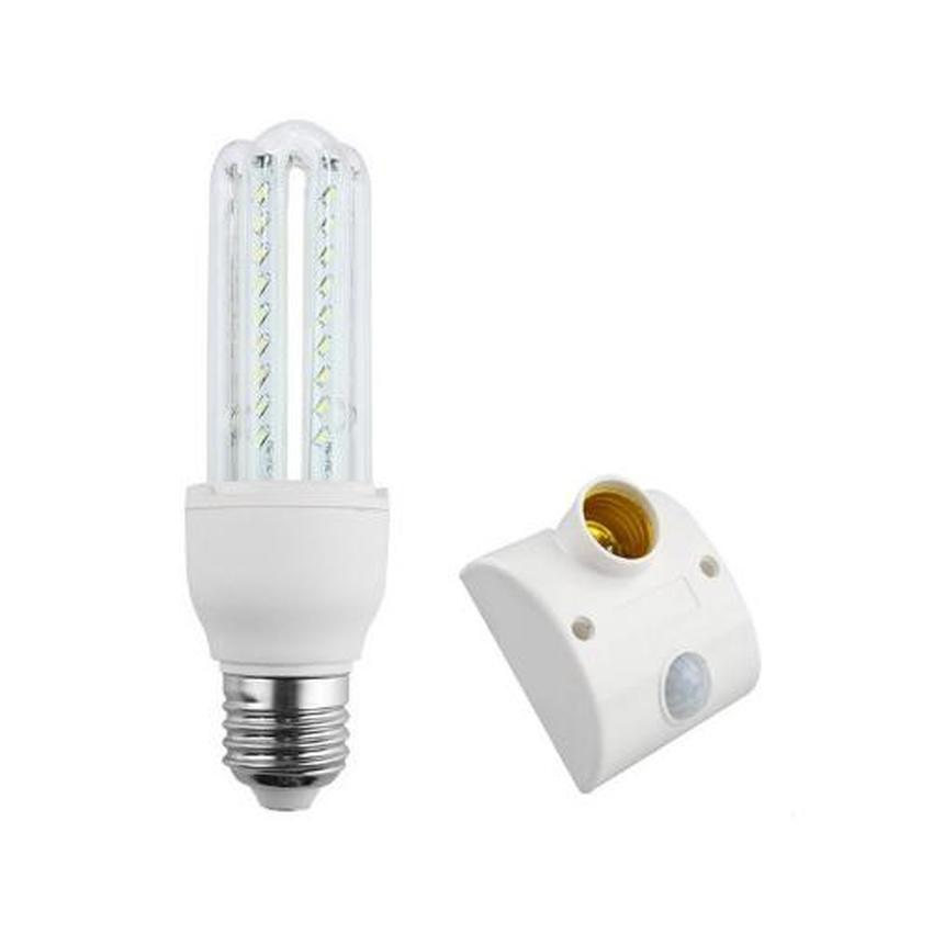 Bộ Bộ bóng đèn LED 4U siêu tiết kiệm 9W + chuôi đèn cảm biến