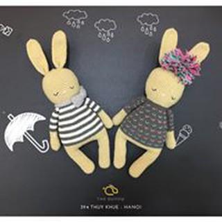 Set thỏ ngủ – Bunny Handmade – Thú bông