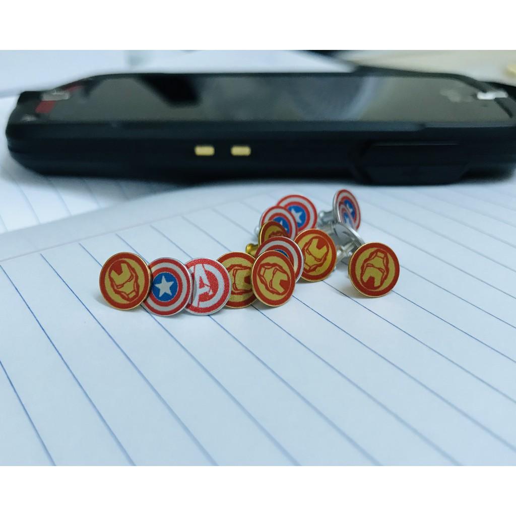 Nút thay Avengers kim loại cho Xiaomi Mi Band 4 và Mi B
