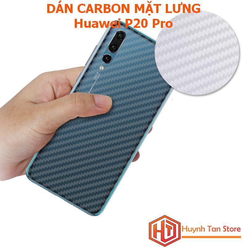 Dán Carbon chống trày mặt lưng Huawei P20 Pro