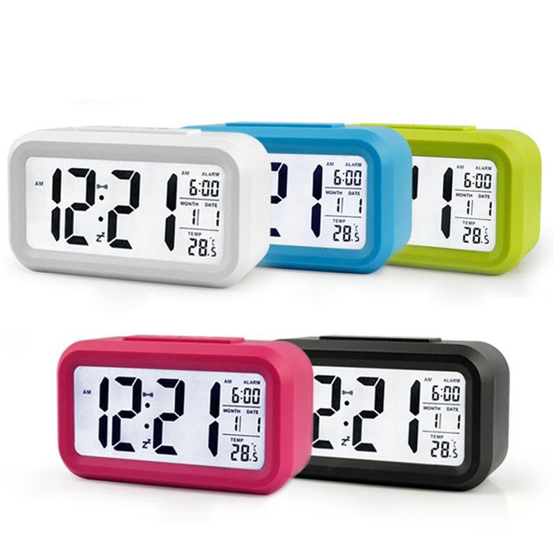 Đồng hồ báo thức điện tử LED kỹ thuật số với nhiệt kế lịch