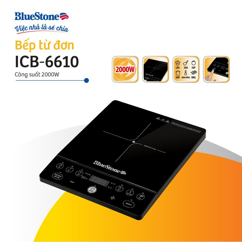 Bếp từ đơn BlueStone ICB-6610(2000W)- Tặng kèm nồi - Bảo hành 24 tháng