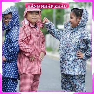[Hàng Loại 1] Áo mưa bộ trẻ em vải dù họa tiết ngộ nghĩnh cho bé, hàng Việt Nam chất lượng cao cấp