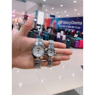 Đồng hồ thời trang nam nữ Nary cặp bạc MS001 thumbnail