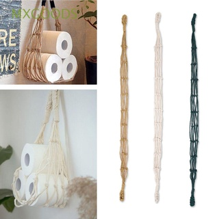 Túi đựng đồ treo tường bằng dây Cotton nhiều màu phong cách Bohemian độc đáo trang trí nhà cửa/ khách sạn