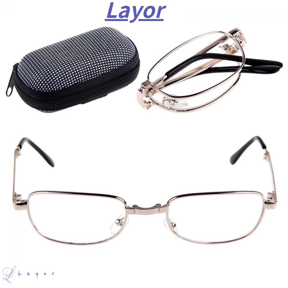 💜LAYOR💜 Hot Folded Metal Foldable Reading Glass Frame Sliver Fashion Unisex Hanging/+1/ +1.5/ +2 /+2.5/ +3