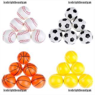 ICE 6Pcs 6.3Cm Childrens Vent Balls Soccer Stress Balls For Stress Relief Ball Games
