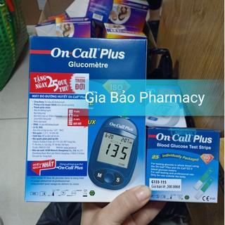 Máy đo đường huyết ON CALL PLUSS ( bộ có tặng kèm hộp test 25 que ) thumbnail