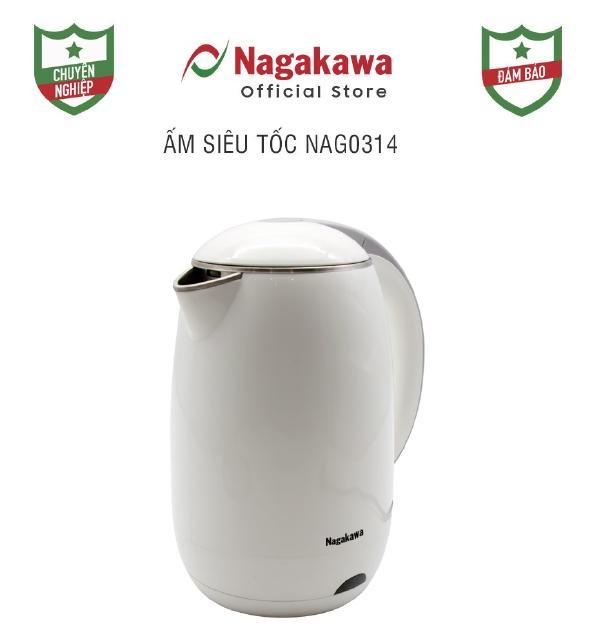Ấm siêu tốc 2 lớp 1,8L Nagakawa NAG0314 - Hàng chính hãng - Bảo hành 12 tháng thumbnail