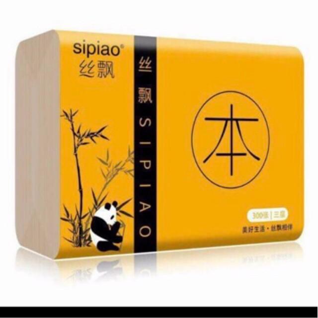 Gói giấy ăn sợi tre Sipao không tẩy trắng (GC)