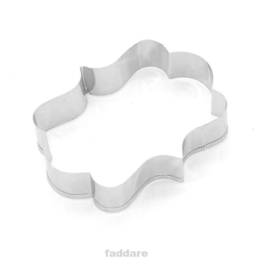3pcs DIY Decorating Kitchen Non Stick Practical Plaque Frame Stainless Steel Cookie Cutter