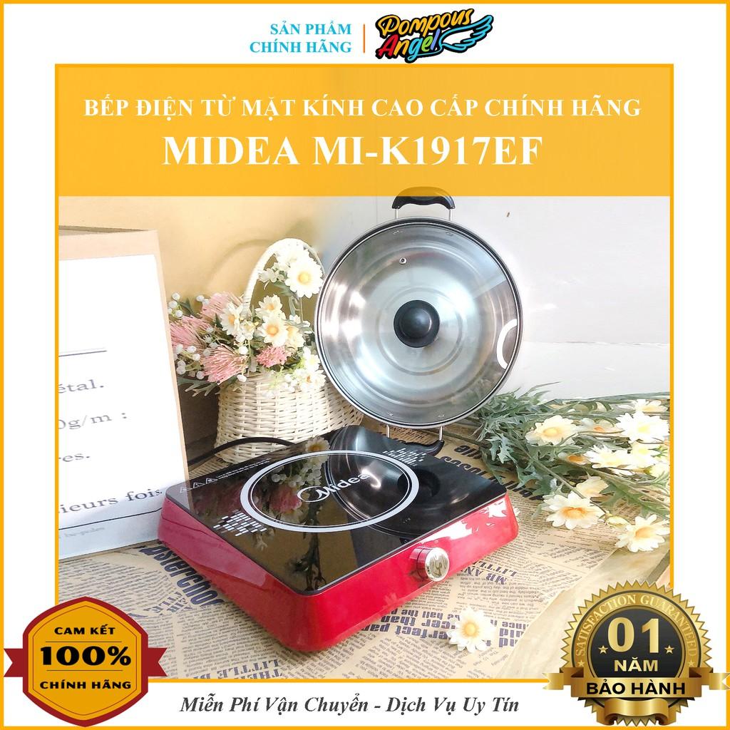 [Chính hãng] Bếp điện từ đơn đa năng mặt kính cường lực công suất 1900W MIDEA MI-K1917EFnúm vặn cơ cao cấp chính hãng