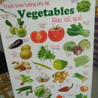 Tranh treo tường song ngữ tiếng Việt và tiếng Anh