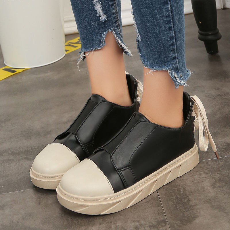 ❒❍☊Harajuku Casual Shoes Female Ulzzang Korean version hundred autumn students 2019 new hip-hop high-help women's shoe