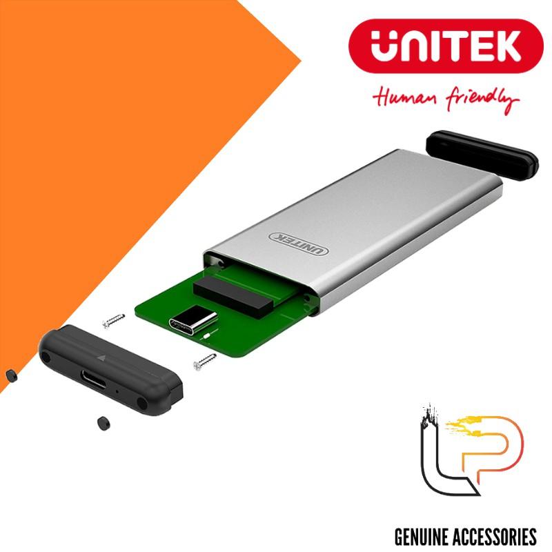 Hộp đượng ổ cứng SSD M2 Sata Type-C Unitek Y-3365 - Box SSD M2 Sata Type-C Unitek Y-3365