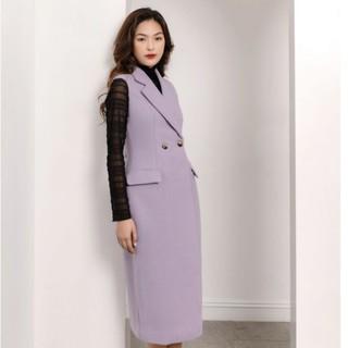 Áo măng tô nữ tím dạ thiết kế Elise thumbnail